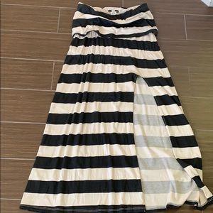 Billabong Strapless Summer Striped Dress